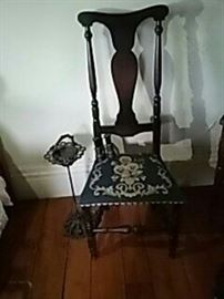 Antique Chair, Ashtray Stand