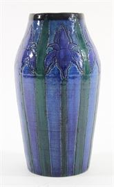 Lot 1: Arts & Crafts Style Signed Pottery Vase