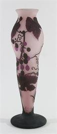 Lot 2: German Contemporary Art Glass Cameo Vase