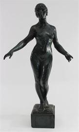 Lot 3: Bronze Clad Art Deco Plaster Nude Sculpture