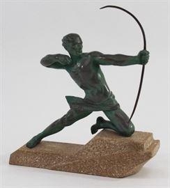 Lot 5: Max LeVerrier Metal Sculpture of Archer