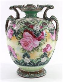 Lot 6: Nippon Moriage Floral Vase