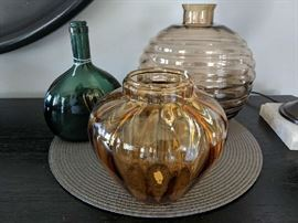 Hand Blown Glass and Vintage Bottle