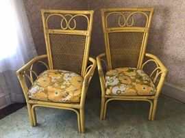 Yellow Wicker Outdoor patio Chairs