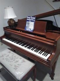 Baby grand piano. Documents of last tuning and cleaning.  Just beautiful! We will be showing this earlier than the sale by appointment only. We are also taking bids so let Miss Ruby know your bid asap.