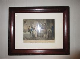 we have several of these types of framed lithos dated in the 1860's