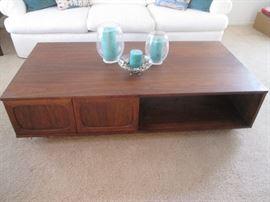 "MCM Coffee Table on plinth base, 30"" X 60"""