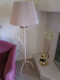 Floor Lamp and Fireplace Tools