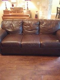 Leather couch great condition.