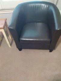 set of black club chairs