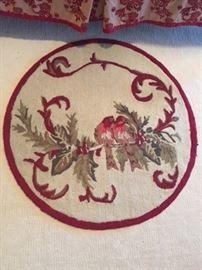 Lovebirds hooked rug