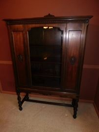 Antique China Cabinet  5 foot by 42 by 16
