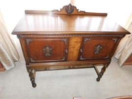 Antique Small Sideboard  35 x 40.5 x 18