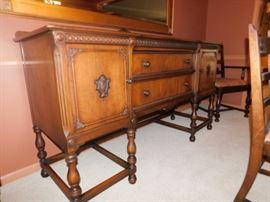 Antique Sideboard/Server  38 x 66 x 22.5
