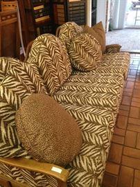 3 cushioned sofa & pillows