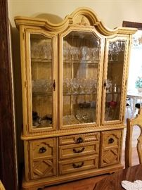 Lighted Stanley China cabinet