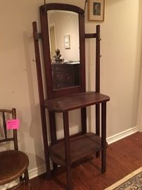 Antique all tree coat rack stand, circa 1910.
