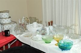 Anchor Hocking, Imperial Glass, Royal Tara Tea Set, Delft