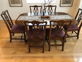 Gorgeous Chippendale dining room set - Seats 10 - 12 has leaves