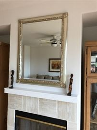 Lovely mirror and african statuary