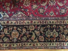"12'x9' ""Najafabad"" Area Rug from Iran.  Bold Reds, Blues, Greens and Black Colors - Wool w/cotton bottom."