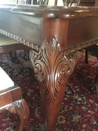 Detailing on Leg and Apron of Dining Table