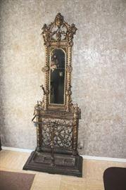An Impressive Piece! Victorian Brass Hat Tree