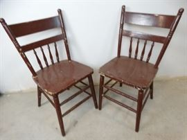Pair of Small Wooden Chairs