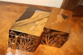 Antique Japaneses Edo Gold & Black Lacquered Box  Circa  1700's  (with Certificate)