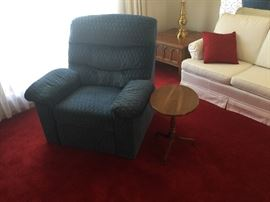 Recliner chair and side table
