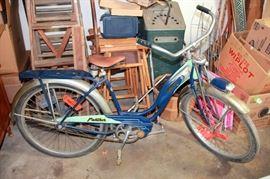 Schwinn Panther Bike with 1950's Dayton Bike Licenses
