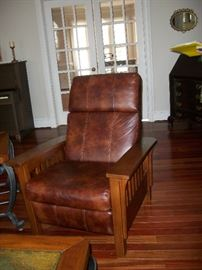 Leather recliner (one of two)