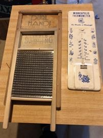 Washboards, Vintage Minneapolis thermometer