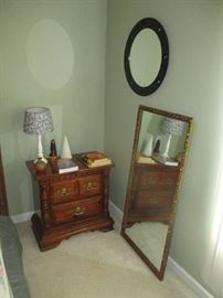 Nightstand and mirrors