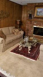 Closer view of Sherrill sofa.