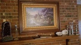 "Thomas Kinkade Clocktower Cottage ""Streams of Time"" numbered Print"