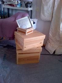 Wooden Metal Lined Shipping Boxes
