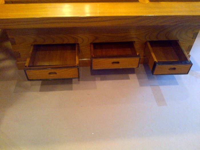 Authentic Japanese Dining/Tea/Coffee Table Storage Drawers