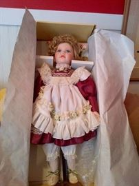 Porcelain Head Doll in Box