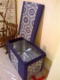 Wooden Metal Lined Box (Fabric Covered)