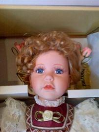 Porcelain Head Doll with original Box