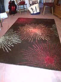 Star Burst Wool Rug With Viscose Detail (5X8)