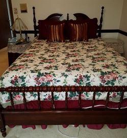 Queen cherry bed