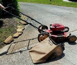"Toro GTS 22"" 6.5 HP Recycler Self-Propelled Bagger Push Mower, works great"