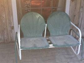 metal vintage patio seat