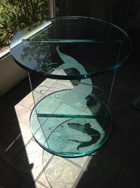 Nautical Glass display table $ 80.00