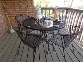 several patio tables in this sale