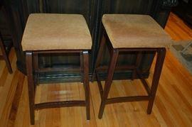 Covered bar stools - set of three