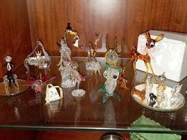 Blown glass figures