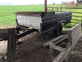 Vintage Ford truck bed trailer conversion